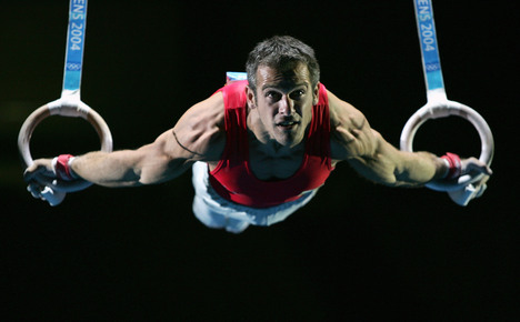 Using the Gymnastic Rings correctly! Man must have pin ball wizard wrists!