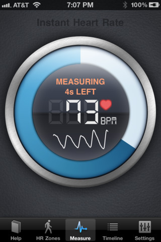 Using your cellphone this app measures your heart rate in seconds!