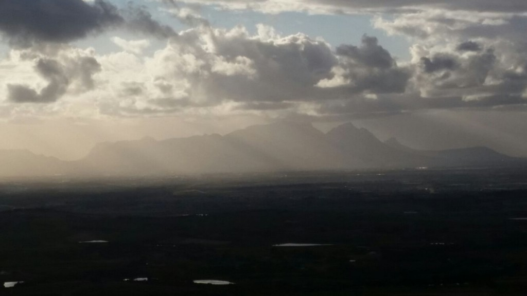 A varying vista from the slopes of the Helderberg Mountains!