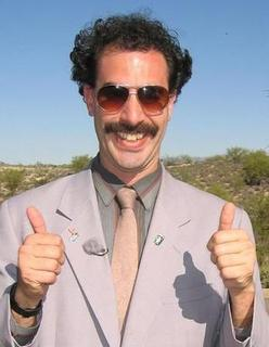 Ouch Borat thumbs up