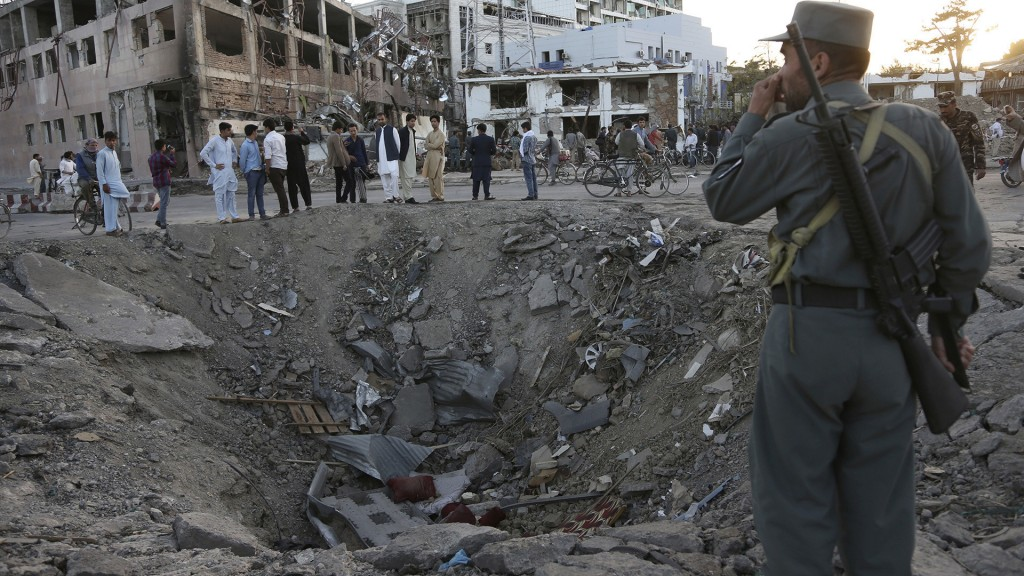 2 Massive blast in Kabul with maximum devastation.