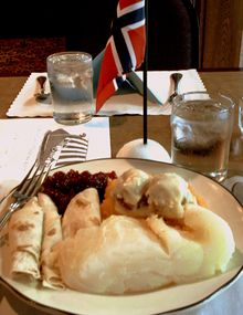 Eden prairie lutefisk meal on Norwegian Consitution Day