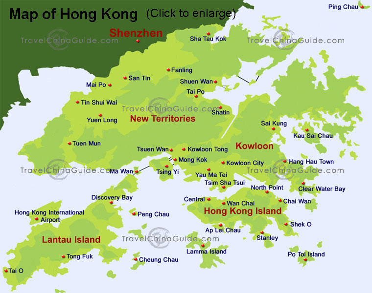 On Fire map of Hong Kong